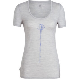 Icebreaker Tech Lite Solo t-shirt Dames grijs